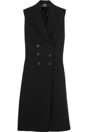Alexander McQueen Double-breasted wool and silk-blend gabardine gilet