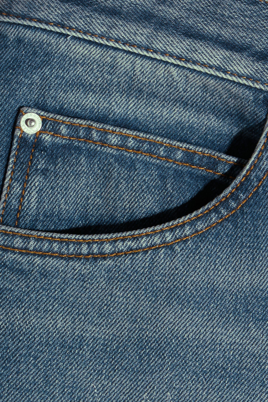 Alexander McQueen Distressed high-rise straight-leg jeans