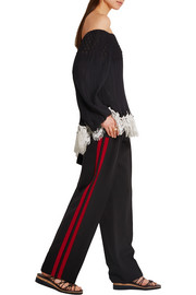 Alexander McQueen Wool and silk-blend gabardine wide-leg pants