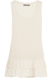 Alexander McQueen Pleated cotton-jersey tank