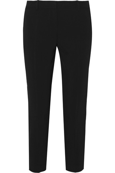 DKNY. Cropped twill tapered pants