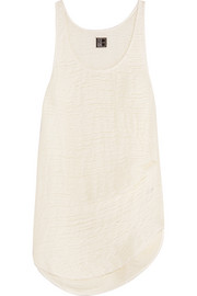 Cotton and linen-blend tank