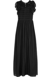 Vanessa Bruno Eurasia ruffled cotton and silk-blend voile maxi dress