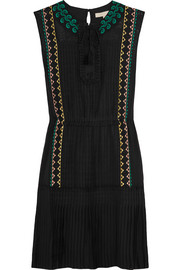 Vanessa Bruno Egypte embroidered silk dress