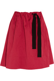 Everett brushed cotton-blend skirt