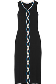 Cutout stretch-cotton midi dress
