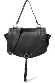 Collins medium textured-leather shoulder bag
