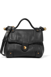 Dixie textured-leather shoulder bag