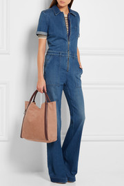 See by Chloé Harriet leather-trimmed nubuck tote