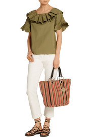 See by Chloé Summer striped jute tote
