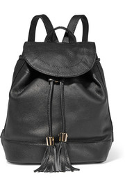 Vicki textured-leather backpack