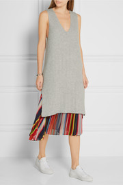 The Elder Statesman Ribbed cashmere-blend dress