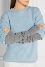 The Elder Statesman Mélange cashmere arm warmers
