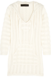 The Elder Statesman Hooded cashmere and silk-blend tunic