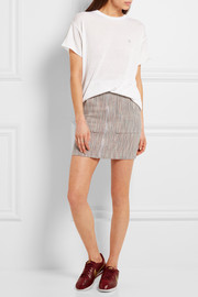 The Elder Statesman Woven cashmere mini skirt