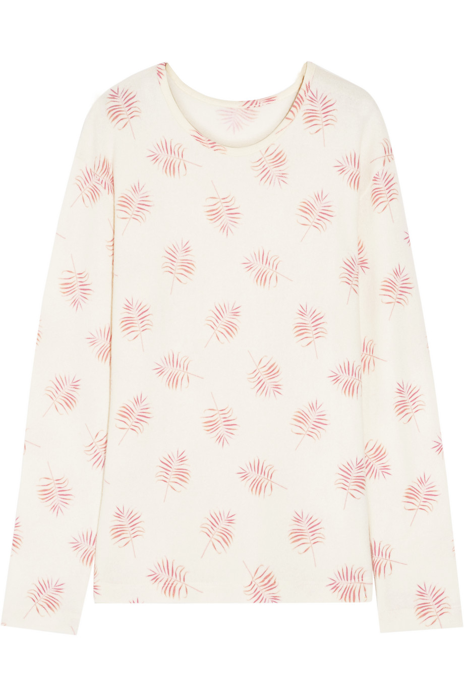 Printed Cashmere Sweater, The Elder Statesman, Cream, Women's