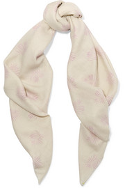 The Elder Statesman Printed cashmere scarf