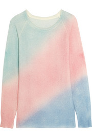 Oversized color-block cashmere and silk-blend sweater