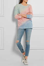 The Elder Statesman Oversized color-block cashmere and silk-blend sweater