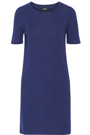 Calypso ribbed stretch-cotton jersey mini dress