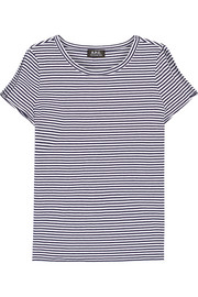 Theo striped cotton-jersey top