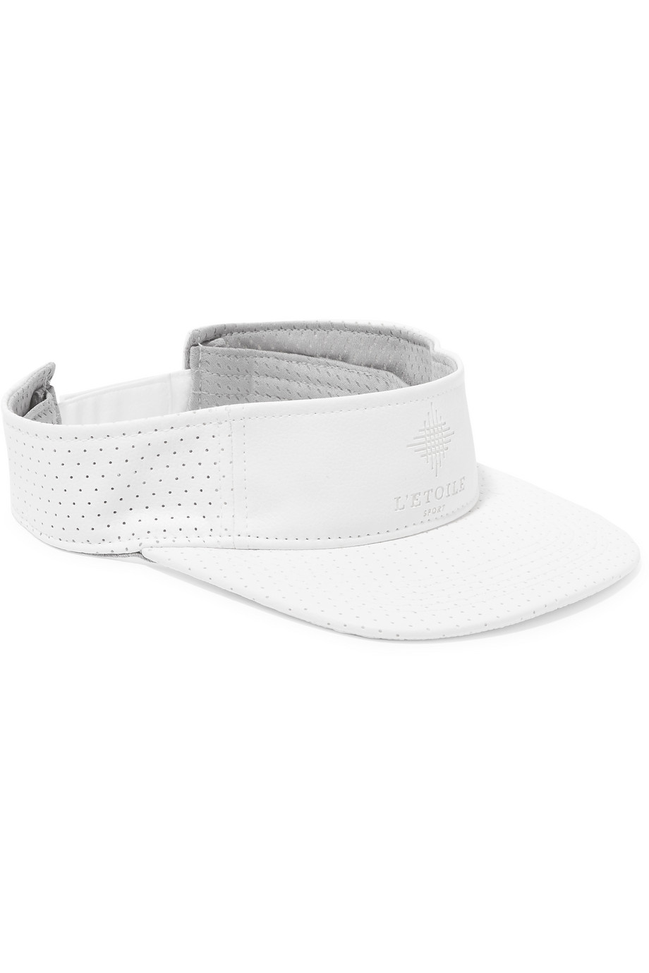 L'etoile Sport Perforated Faux Leather Visor, White, Women's, Size: One size