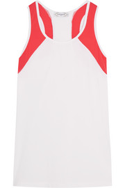 L'Etoile Sport Paneled stretch-satin jersey tennis top