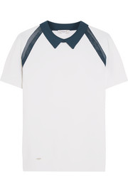 L'Etoile Sport Mesh-paneled stretch-knit tennis top