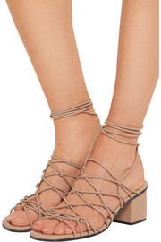 Knotted leather sandals