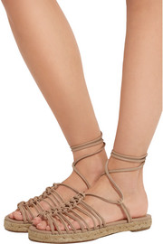 Knotted leather espadrille sandals
