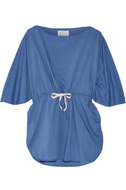 + Poppy Delevingne cotton-chambray tunic