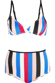 The Belle and Bridget striped triangle bikini