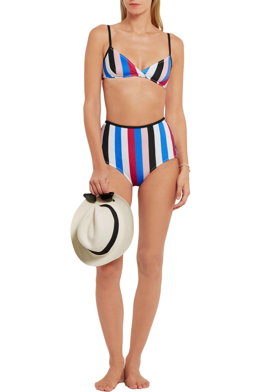 Solid & Striped The Belle and Bridget striped triangle bikini