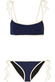 + Poppy Delevingne two-tone bikini