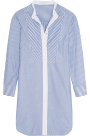 Hemingway striped cotton-twill nightshirt