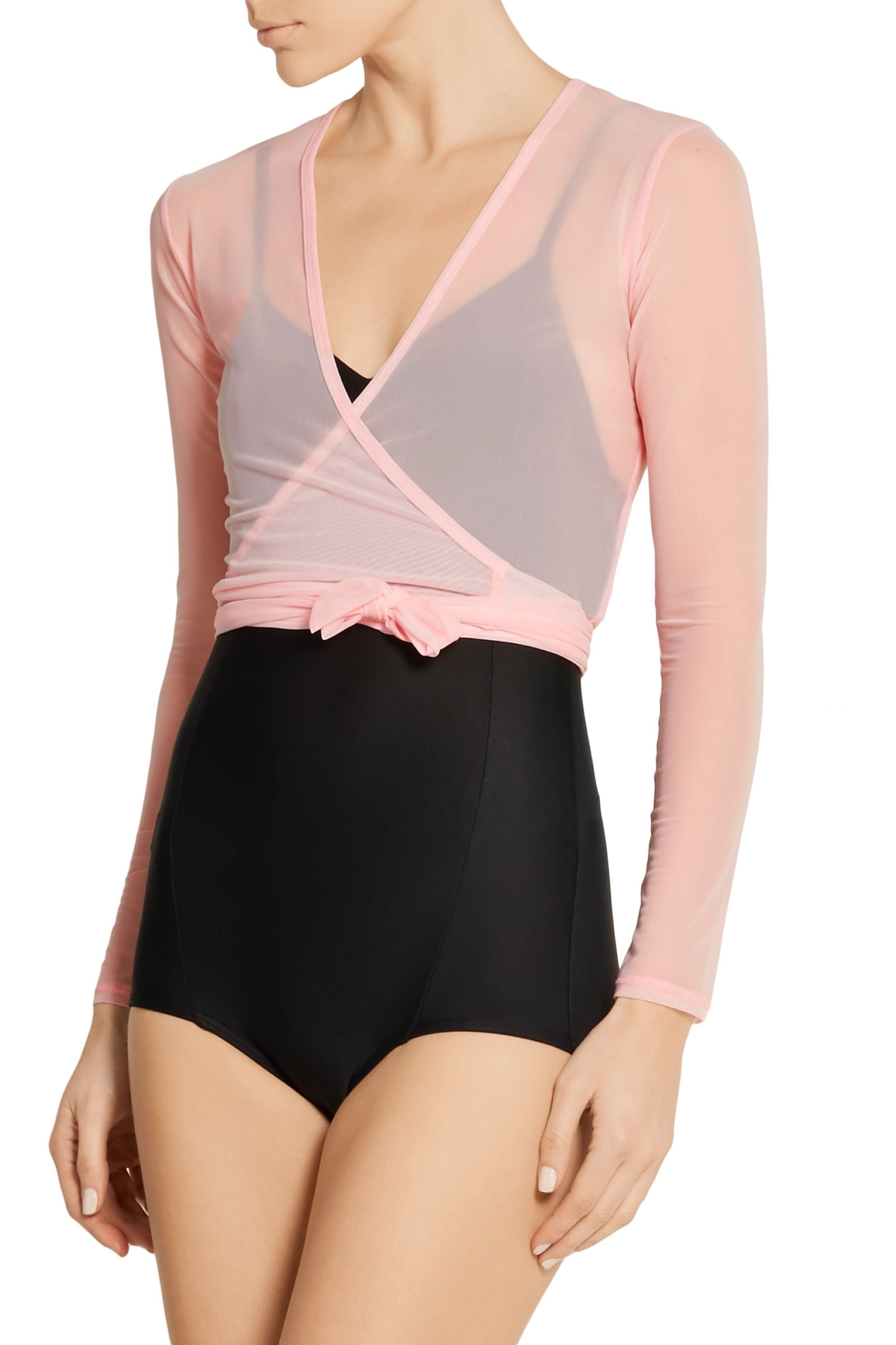 Ballet Beautiful Mesh wrap top