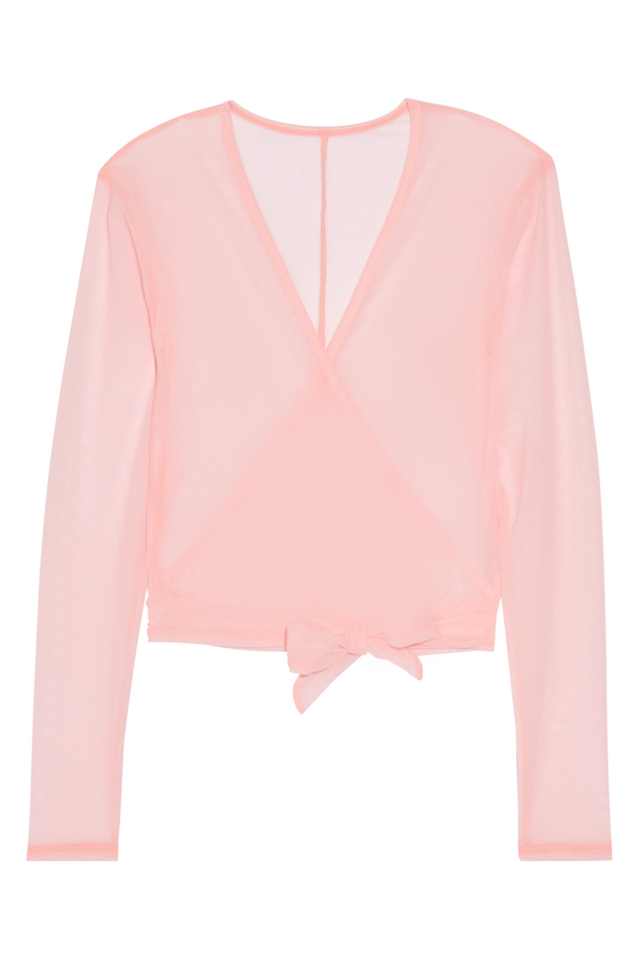 Mesh Wrap Top, Ballet Beautiful, Pastel Pink, Women's, Size: S