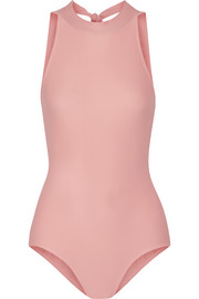 Stretch-jersey halterneck leotard