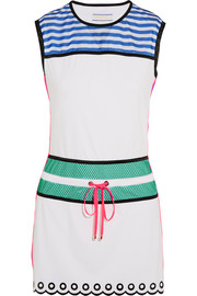 Monreal London Signature mesh-paneled stretch-jersey tennis dress