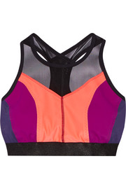 Monreal London Hi-Energy mesh-trimmed stretch-jersey sports bra