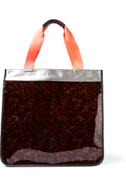 Hero leather-trimmed PVC and coated canvas tote