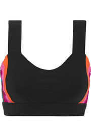 Hina paneled stretch-jersey sports bra