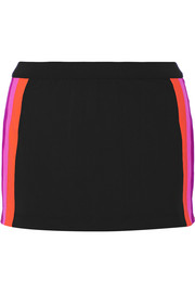 Amae paneled stretch-jersey shorts