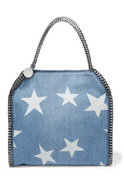 Stella McCartney The Falabella printed denim shoulder bag