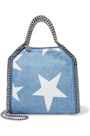 The Falabella mini printed denim shoulder bag