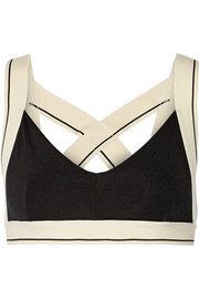 X stretch-jersey sports bra