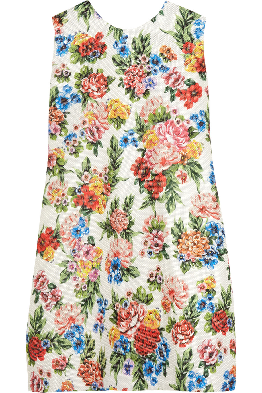 Presley Floral-Print Gazar Mini Dress, Emilia Wickstead, White/Pink, Women's, Size: 10