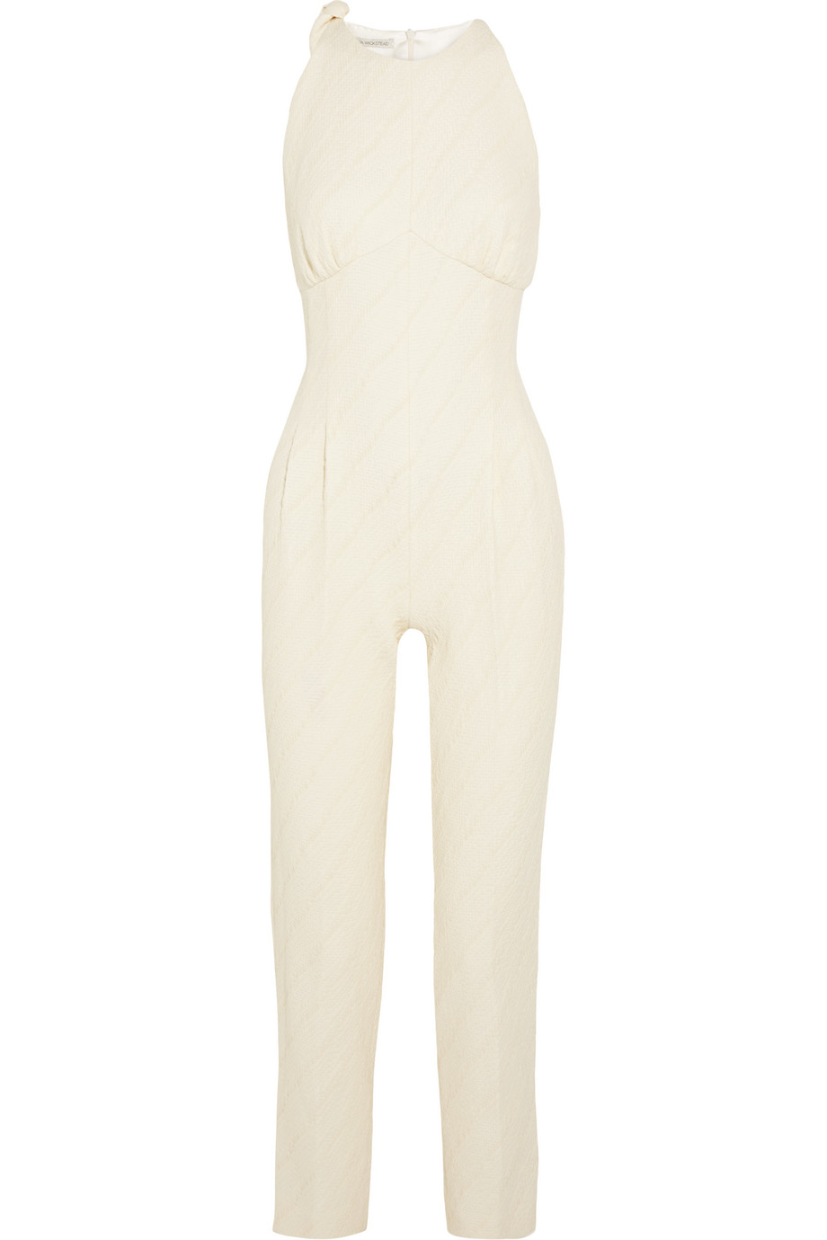 Havanna Matelassé Jumpsuit, Emilia Wickstead, Cream, Women's, Size: 6