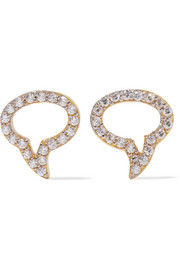 Speech Bubble gold-plated topaz earrings