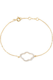 Cloud gold-plated topaz bracelet